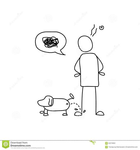 puppy pees all the time on leg stock vector image 62379902