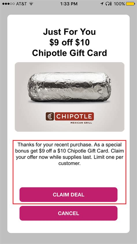 Chipotle E Gift Card - swych app promo 50 hotels com egc for 40 10 chipotle egc for 1