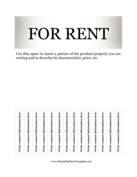 for rent flyers templates flyer for rent