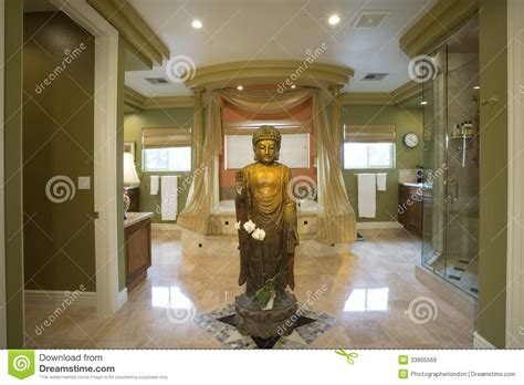 buddha bathroom buddha statue in luxurious bathroom royalty free stock
