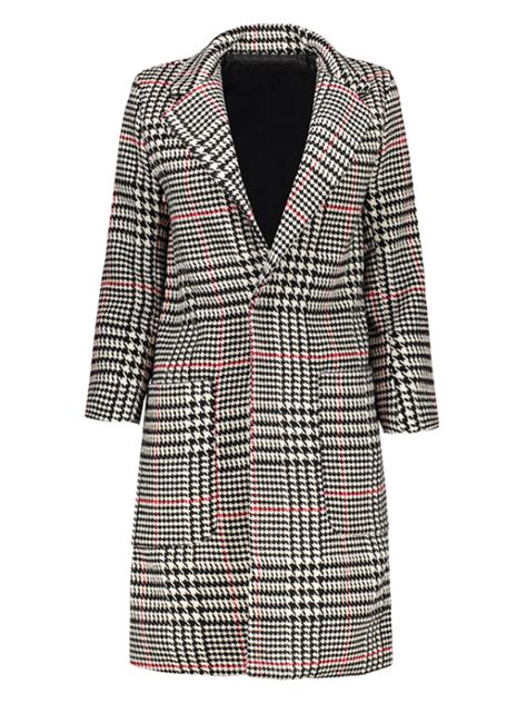 lapel houndstooth coat black and white and jackets