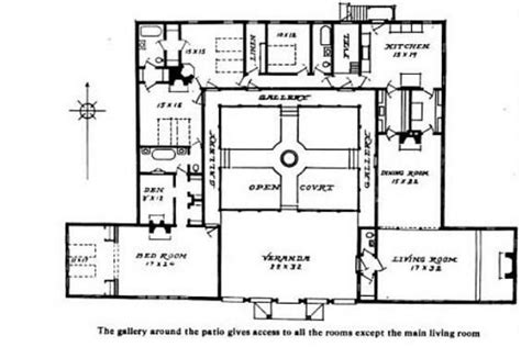 House Plans With Courtyard In Middle Courtyard Home Plan When We Build In Mexico This Is What I Kinda Want Want A Courtyard In The