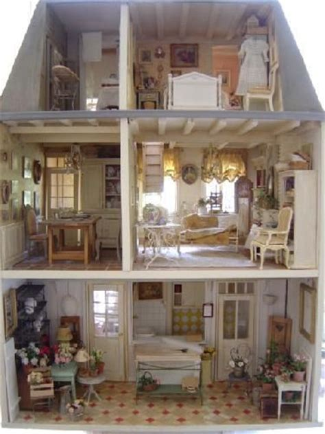 french dolls house french miniature interior antique vintage dollhouses pinterest