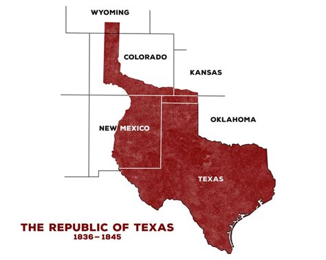 the republic of texas map at one time in texas creede colorado no 4 st