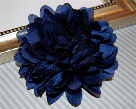 Stelan Next Flower navy blue fabric flower 4 large silk navy blue