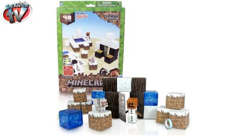 Minecraft Papercraft Review - minecraft overworld snow biome papercraft review