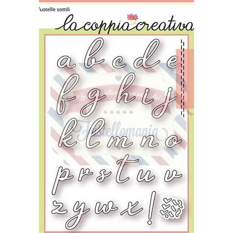 lettere alfabeto corsivo minuscolo fustella metallica alfabeto corsivo minuscolo