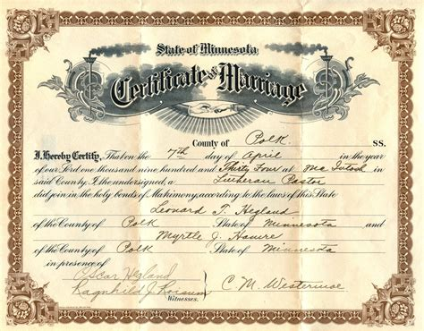 Marriage Records Image Gallery Marriage Certificate