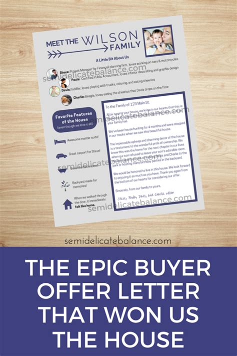 Buyer Offer Letters the epic buyer offer letter that won us the house house