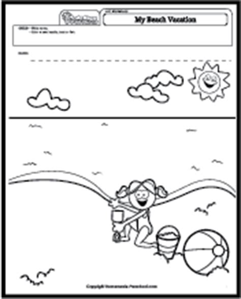 preschool vacation coloring pages art worksheets coloring