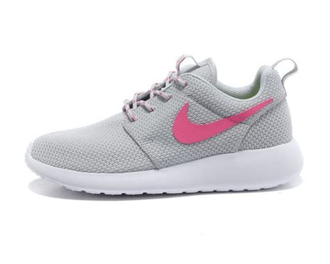 2015 new nike roshe run junior womens grey pink white