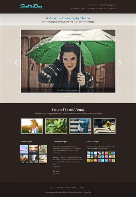 themes gallery wordpress shutterbug photo gallery wordpress theme