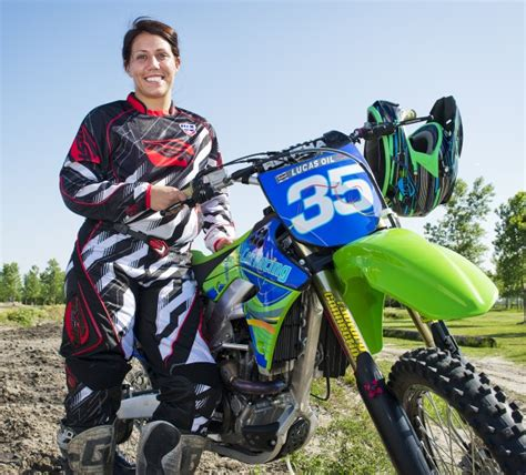 pro female motocross riders cox one of country s rising female motocross racers