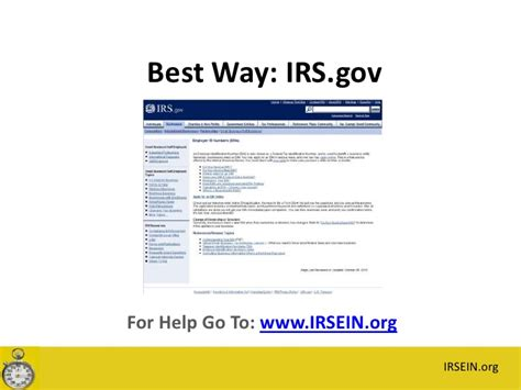 Payer S Federal Identification Number Lookup How To Get An Ein Tax Id Number