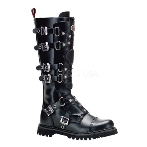 gravel 22 by demonia steel toe strappy mens knee boots vork