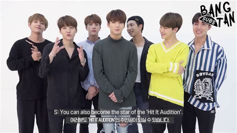 V Audition Bts by Eng 170804 Bts Supports The Hit It Audition 5 Youtube