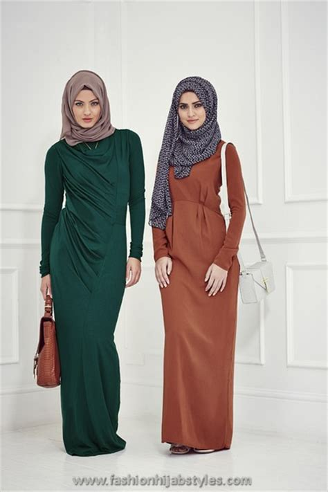Dress Inayah 001 inayah collection 2014 and abaya styles lookbook emerald new line abayas new modern