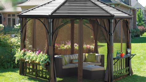 canadian tire awnings how to choose a gazebo or awning helpful how tos