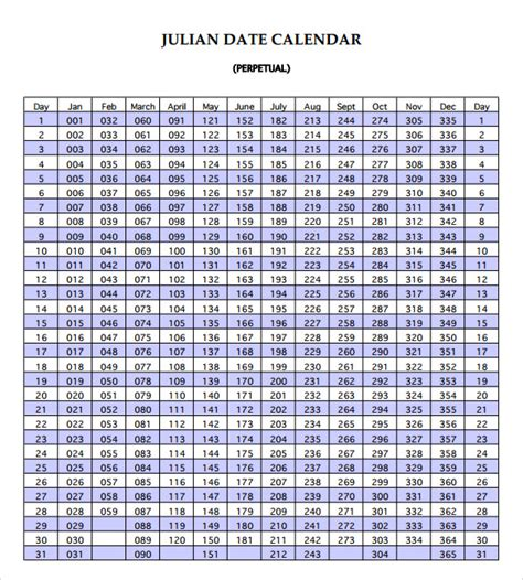 julian calendar 9 documents in pdf psd