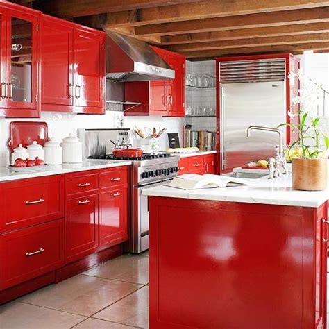 red kitchen design ideas 15 red kitchen ideas home designs plans