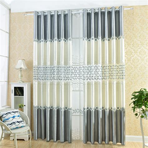 low cost curtains european style low cost water soluble embroidered shade