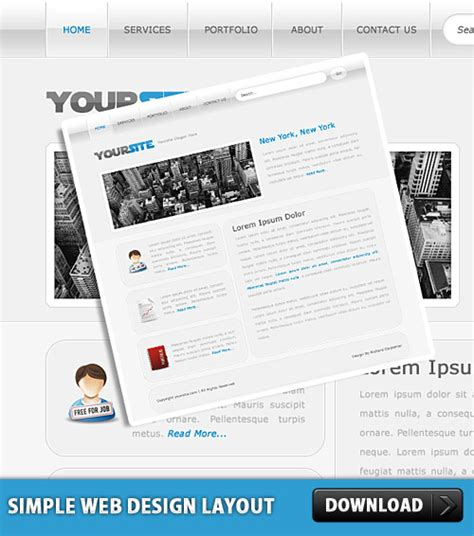 layout design psd simple web design layout psd download download psd