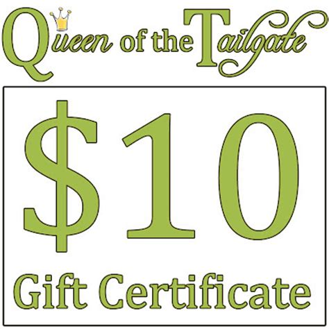 tailgate fan shop coupon of the tailgate 10 gift certificate thank you