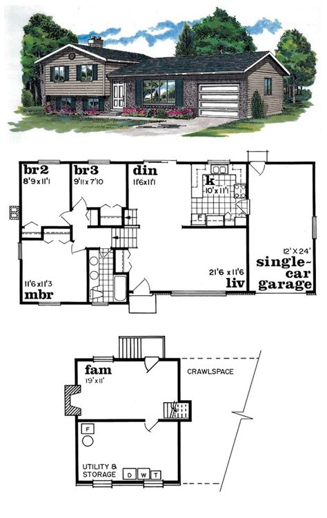 split two bedroom layout house plan 55137 traditional house plans and simple