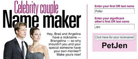 celebrity couples name generator couple nicknames generator fantasy baseball team name