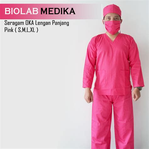 Seragam Pramuka Lengan Panjang seragam oka lengan panjang pink biolab medika