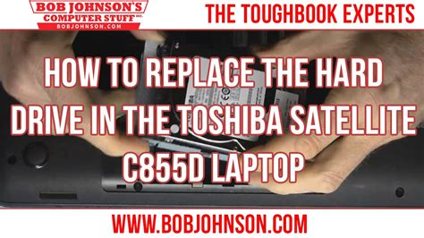 how to replace the drive in the toshiba satellite c855d laptop