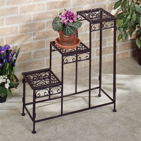 Patio Plant Stand by Patio Plant Stands Tiered Modern Patio Outdoor