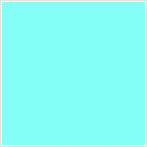 light blue green color 84fff7 hex color rgb 132 255 247 aqua aquamarine