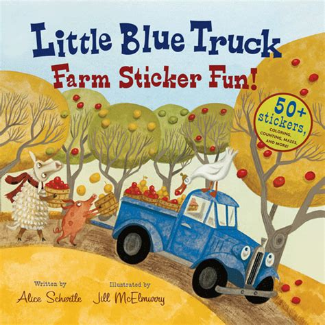 blue truck s springtime books blue truck farm sticker