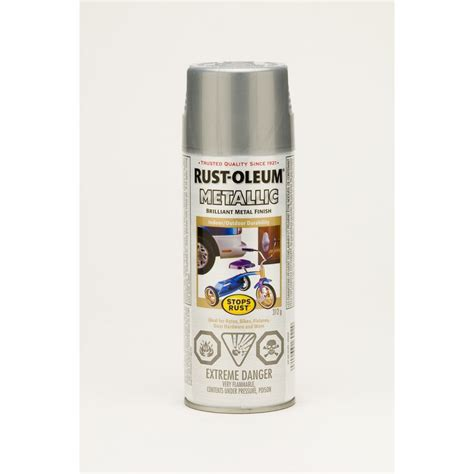 spray paint for steel rust oleum metallic 312g brilliant metal finish spray