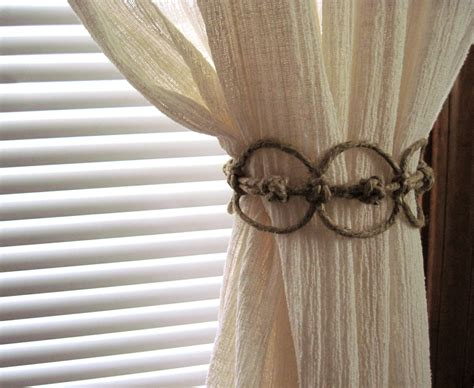 Handmade Curtain - handmade thick hemp adjustable curtain tie back