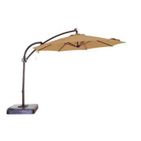 patio umbrella home depot hton bay 11 ft solar powered patio umbrella in uxs01601c the home depot