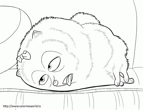 A Secret Coloring Pages gidget the secret of pets coloring page coloring home