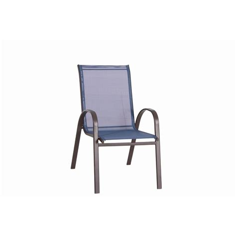 navona blue sling patio chair fcs00015j blue the home depot
