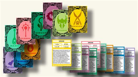 d d 5e spellbook card template d d 5e fillable spell cards by class dungeon master
