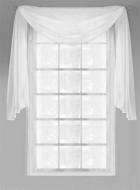 how to dress a window with voile and curtains plain voile window pelmet scarf swag panel decoration lots