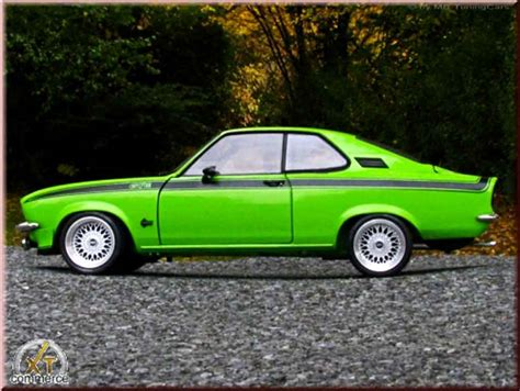 1975 opel manta opel manta gt e green 1975 wheels bbs big offset norev