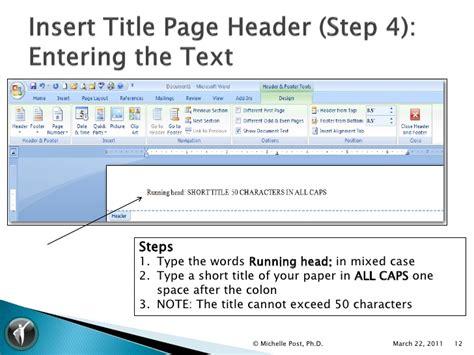 apa 6th ed ms word 2007 template tutorial v1