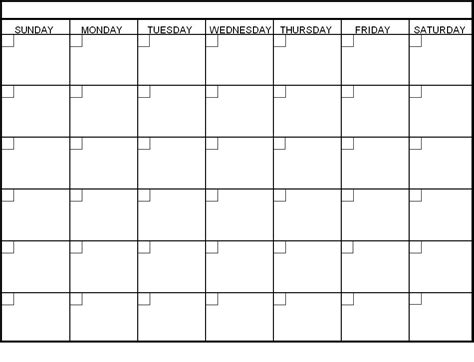 blank day calendar pages blank calendar pinterest