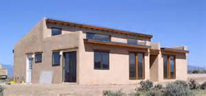 Pueblo style traditional framing rather than adobe rounded corner