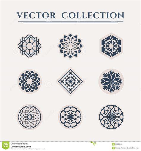 vector geometric symbols stock vector image