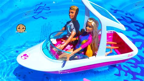 barbie dolphin boat set boat trip dolphin magic barbie sets part 2 pool water