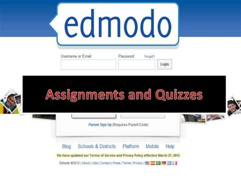 edmodo training edmodo training 5 assignments and quizzes