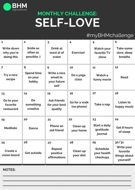 self challenge take the bhm monthly self challenge bighealthyme