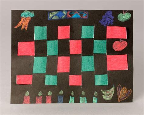 kwanza crafts for kwanzaa mat craft crayola